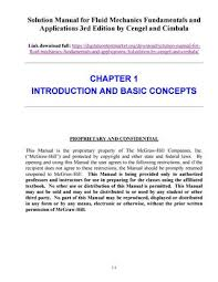 Solution manual for fluid mechanics fundamentals and applications ...