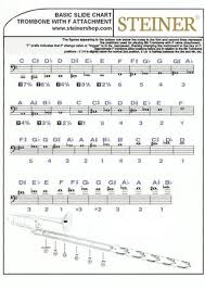 Trombone Chart Trombone With F Attachment Slide Positions By Steiner Music