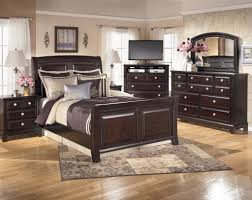 sleigh bed furniture. Traditional Bedroom Furniture Design With 5 Piece Ashley Ridgley King Set, Sleigh Bed