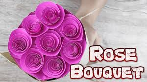 Diy Paper Flower Tutorials Origami Rose Bouquet How To Make A Rose Paper Flower