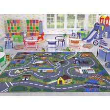 jenny collection grey road traffic design 5 ft x 7 ft