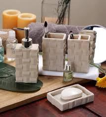 cream bathroom accessories set. ss silverware cream ceramic bathroom accessories - set of 4 o