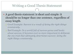 create a thesis statement history day thesis what is a thesis a writing a good thesis statement a good thesis statement is short and simple it should