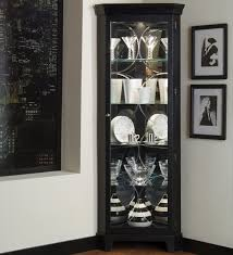 Corner Kitchen Curio Cabinet Pulaski Furniture Curios Oxford Black Corner Curio Value City