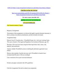 Eth 321 Week 3 Team Assignment Contract Law And Ethics Case Study (2 ...