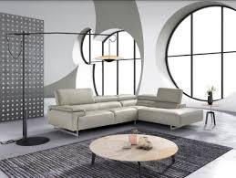 Stylish design furniture Nursery Furniture Image Improb Estro Salotti Wish Modern Grey Leather Sectional Sofa Stylish