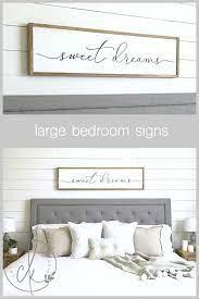 sweet dreams sign bedroom wall decor