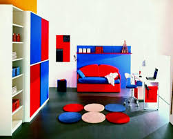 colorful modern furniture. Bedroom Good And Cool Design Boys Rooms Kid Ideas Interesting Interior With Red Blue Bed Living Colorful Modern Furniture