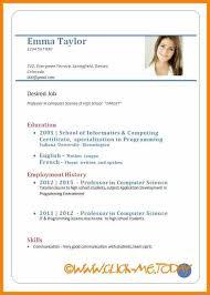 20 Employment Curriculum Vitae Sample Leterformat