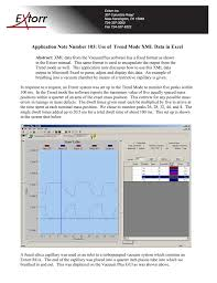 Rga Amu Chart Application Note Number 103 Use Of Trend Mode Xml Data In Excel