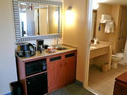 Small Picture Micro kitchen and view into bathroom Picture of Embassy Suites