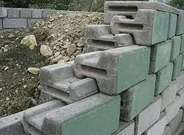 retaining wall cement blocks tiles