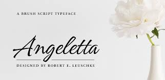 meet angeletta an energetic script font that draws on hand lettering tradition