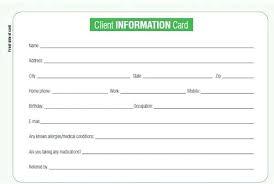 Business Client Information Sheet Template Customer Software