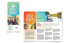 Marketing Brochure Templates Childrens Ministry Brochure Template Church Youth Group Brochure