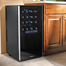 wine enthusiast wine refrigerator. Beautiful Wine Wine Enthusiast Silent 32 Bottle Dual Zone Touchscreen Refrigerator  With Lock  For