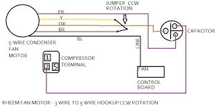 hvac condenser fan motor wiring diagram