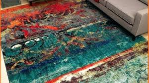 teal red orange rug blue and rugs bold color elegant unique area multi faded design bright pertaining to