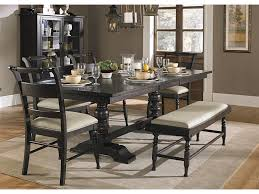 Liberty Furniture Whitney  Piece Trestle Table Set With Bench - Dining room chair sets 6