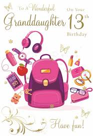 Birthday quotes for 13 year old granddaughter. 2 98 Gbp For A Wonderful Granddaughter On Your 13th Birthday Happy Birthday Card Ebay H In 2021 Happy 13th Birthday 13th Birthday Wishes Free Happy Birthday Cards