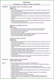 General Resume Outline Assistant Manager Resume Examples Affordable Assistant