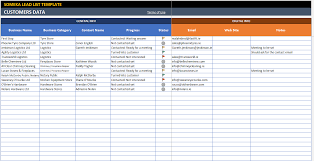 Tracking Sales In Excel Lead List Template