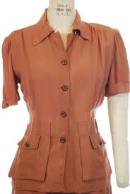 Classic 1940s Sportswear Pantsuit in Pinkish Clay Brown Hollywood Crea –  Fab Gabs Vintage