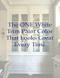 trim paint color painting trim white
