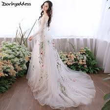 pregnant wedding dresses. Darlingoddess Pregnant Wedding Dresses Elegant Long Sleeves