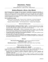 Restaurant Gm Resume Corol Lyfeline Co Hotel General Manager Sample