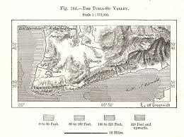 The Tuzla Su Valley Turkey Sketch Map 1885 Old Antique Plan Chart