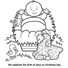 Jesus In A Manger Coloring Page Awesome Fun Pages To Print