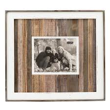 natural planked distressed wood picture frame