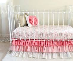 crib sets pink and gold bedding tribal girl nursery teal baby sheets fitted sheet t