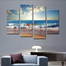 Large Paintings For Living Room 2017 Large Canvas Art Wall Hot Beach Seascape Modern Wall Painting