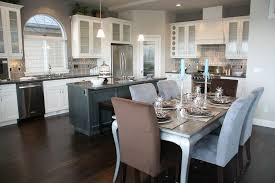 dining room white cabinets. In A High Contrast Kitchen With White Cabinetry And Dark Hardwood Flooring, Both The Large Dining Room Cabinets I