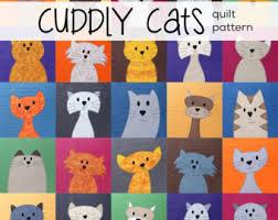 Cat quilt | Etsy & Cats Quilt Pattern Workshop (digital pattern, PDF, kitty quilt, applique) Adamdwight.com