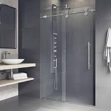 Image Frameless Sliding Quickview Wayfair Shower Bathtub Doors Youll Love Wayfair