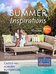 summer outdoor furniture. The Outdoor Furniture Specialists - Auburn. Summer Inspirations Catalogue 2016 By TOFS: Issuu