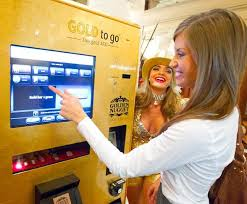 Gold To Go Vending Machine Impressive Gold Vending Machine Debuts At Vegas Casino