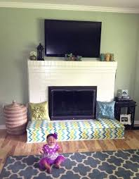 baby proof living room traditional home decor with chevron baby proof fireplace screen and white brick baby proof