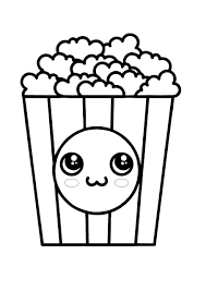 More 100 coloring pages from interesting coloring pages category. Kawaii Popcorn Coloring Pages 2 Free Kawaii Food Coloring Sheets 2020