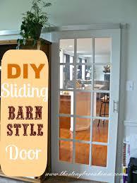 Diy Sliding Barn Door Diy Sliding Barn Style Door The Stonybrook House