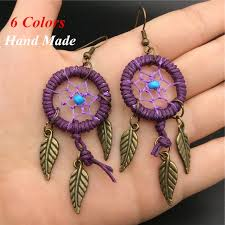Dream Catcher Earings Best Hand Made Drop Dream Catcher Earrings Vintage Indian Native American