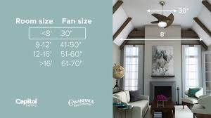 pro tip how to pick the perfect size ceiling fan