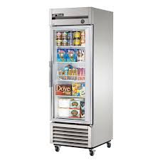true t 23fg ld 27 1 section glass door reach in freezer with
