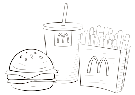 These preschool coloring sheets will support your kid recognize numbers and count to ten. Mcdonald Food Coloring Page Free Printable Coloring Pages For Kids