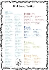 free printable check list for the essentials to for a first house minus the obvious d