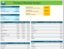 Monthly Expense Tracker Excel Personal Monthly Budget Excel