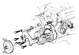 diagram to install a powersteering pump on a 1978 k20 a 350 fig 4 view of the power steering pump mounting